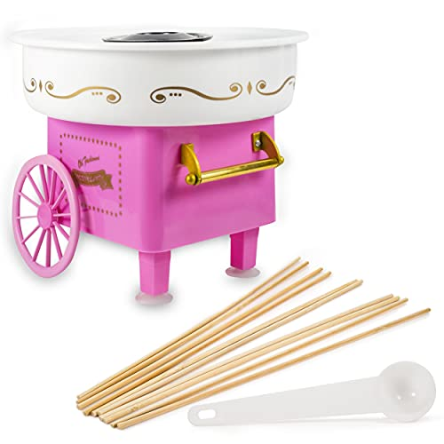 Myriad365 Cotton Candy Machine - Mini Cotton Candy Machine | Cotton Candy Machine for Kids | Comes with 10 Reusable Sticks and Sugar Scoop | Cotton Candy Maker for Kids