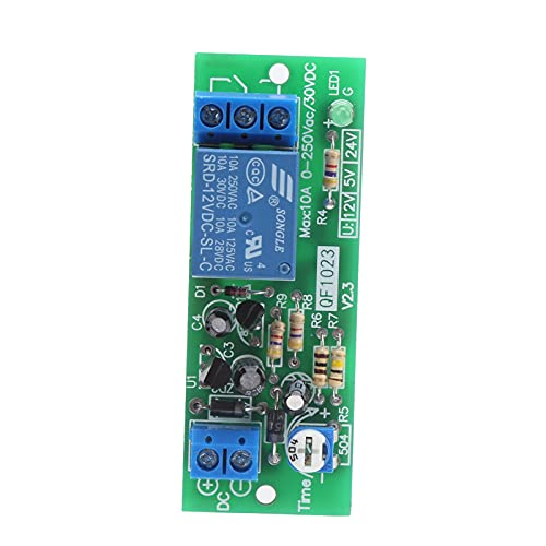 Módulo de relé de tiempo Interruptor de retardo Equipo electrónico de alta precisión QF1023-A-10M 0-10 minutos para equipos eléctricos(12V)