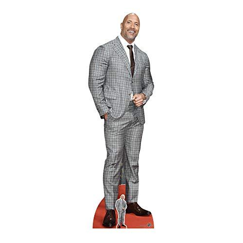 Star Cutouts Ltd Dwayne Johnson Karierter Anzug, Pappe, Mehrfarbig, 3 x 59 x 194 cm