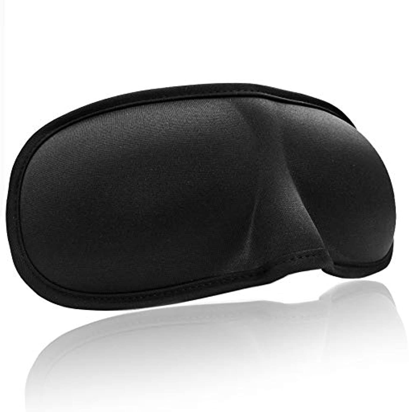 見かけ上火山学軌道NOTE ポータブル3dスリーピングアイマスクシェーディングマスク用睡眠ソフト調整可能包帯目にアイシェードカバー旅行アイパッチ+耳栓