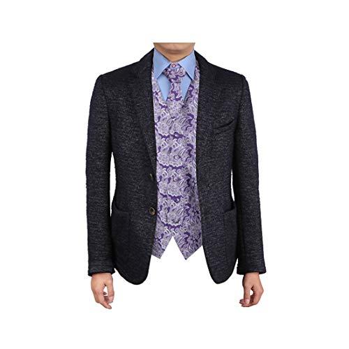 Epoint EGD1B06A-XL Purpurrote Muster-Mikrofaser-Rechtsanw?lte-Kleid-Weste Personalisierte Krawatte Satz-Perfektion f¨¹r Designer