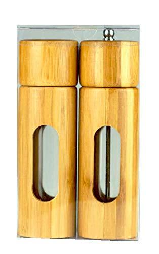ZIA Collection Salz- und Pfeffer-Set aus Bambus (Salzstreuer und Pfeffermühle)