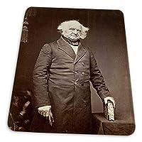 ゲーミングマウスパッド - ブレイディポートレート米国大統領マーティンヴァンビューレン1858写真 マウスパッド おしゃれ ゲームおよびオフィス用/防水/洗える/滑り止め/ファッショナブルで丈夫 25x30cm
