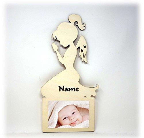 Schutzengel Engel Bilderrahmen 10x15 Individuell mit Namen Personalisiert als Geschenk zum Geburtstag