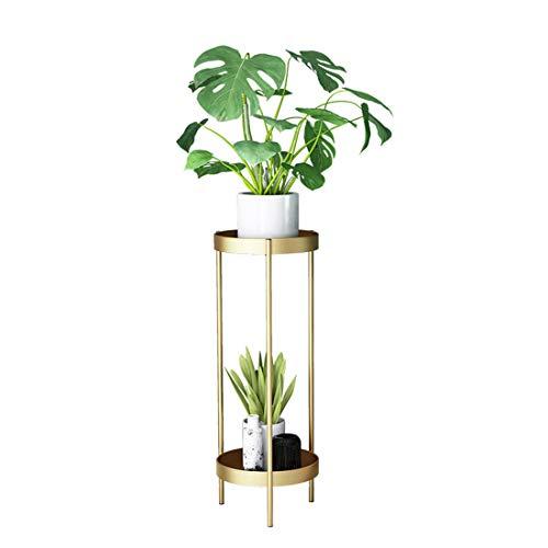 Teakpeak Blumenständer Hoch, 50cm Pflanzenständer Metall Hoch Blumentopfständer Metall Garten Blumenständer Golden