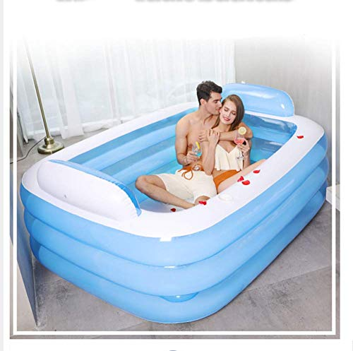 Defect Tina de baño Inflable Grande Adultos Dobles Bañera