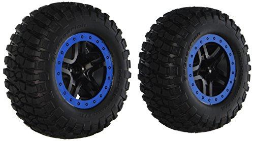in budget affordable Pre-bonded to Traxxas 5885A BFGoodrich Schlamm-Terrain T / A KM2-Tire, Blue-Beadlock, SCT-Split-Spoke …