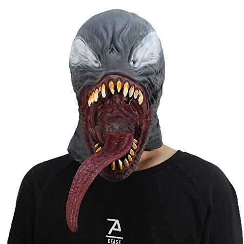 TTCXDP Halloween Masker, Horror Mask Venom Rol Spelen Latex Masker Grappige Prop Kostuum Geschikt voor Rol Spelen Festival Party Spoof