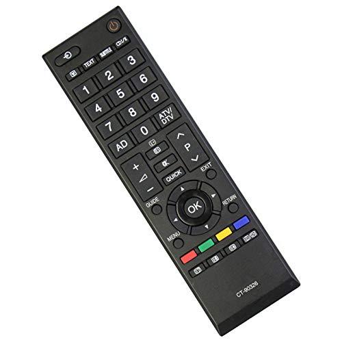CT-90326 Ersatz Fernbedienung - VINABTY Fernbedienung für Toshiba TV CT-90336 CT-90380 19AV616DB 22AV603PG 22AV616DB 26AV603PR 26AV615DB 32AV603PG 22AV713B 26EL933 32RV635 37RV635D 40LV665D 40LV733G