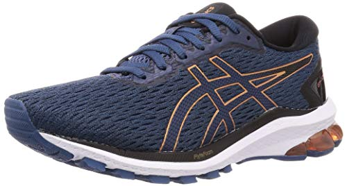 Asics GT-1000 9, Running Shoe Hombre, Grand Shark/Pure Bronze, 43.5 EU