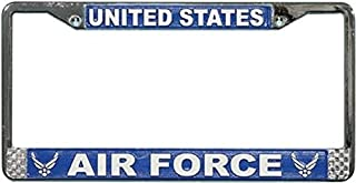 US Air Force License Plate Frame (Chrome Metal) by Mitchell Proffitt