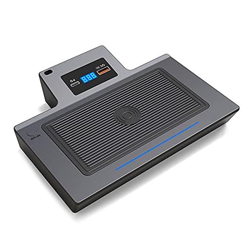 KCSAC 15W Car Qi Wireless Charger Cargador de teléfono Placa de carga Ajuste para Mercedes Benz Cla W177 W247 A180 AMG A35L GLB A B Class 2019 2020 (Size : For GLB)