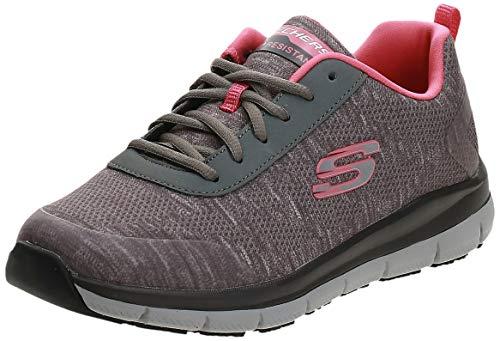 Skechers Women's Comfort Flex Sr Hc Pro Health Care Professional Shoe,gray/pink,9 M US