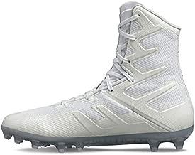 Under Armour Men's Highlight MC Lacrosse Shoe, White (101)/White, 9