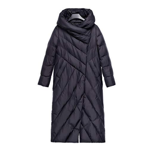 Invierno de las Mujeres de la Chaqueta de Algodón Acolchado abrigo blanco de pato abajo de la capucha caliente de las mujeres abrigos ultra ligero largo Parka outwear AA1906313
