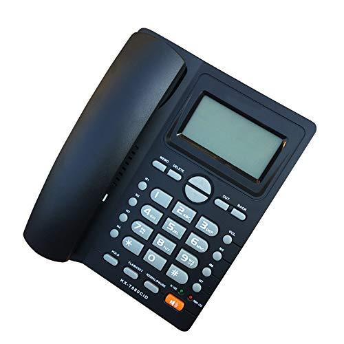 DSJGVN Teléfono De Escritorio, Teléfono Fijo con Cable, con Indicador De Fecha Y Hora De Identificación De Llamadas, para Teléfonos Fijos De Hotel De Oficina En Casa, Negro