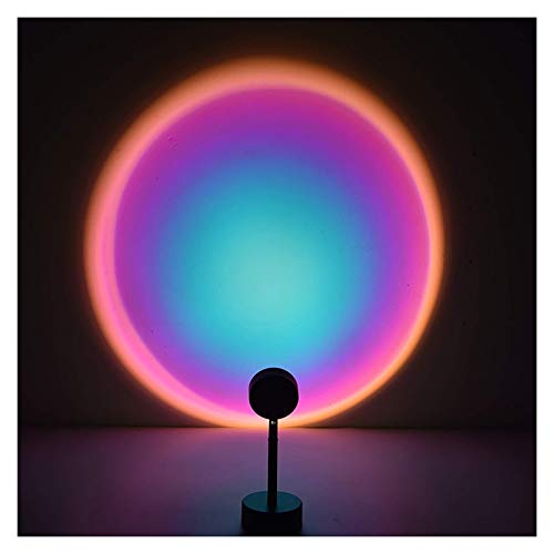 BMY Lámparas LED para proyector Sunset,luz Nocturna con rotación de 180°,lámpara romántica/decoración con Carga USB,Luces ambientales,para Fiestas en casa,de Estar,Dormitorio (Color : Rainbow)