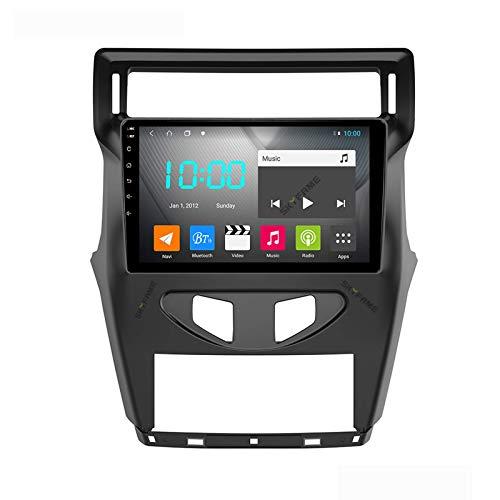 Android 9.0 Car Stereo Double Din Compatible con Citroen C4 C-triunfo C-Quatre 2012 Navegación GPS Unidad principal de 9 pulgadas Pantalla táctil Reproductor multimedia MP5 Receptor de video y radio