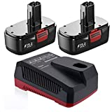 SURTOP 3.7Ah 19.2-Volt C3 Battery and Charger 140152004 315.CH2021 Replacement for Craftsman C3 19.2V XCP Lithium-ion & Ni-Cad Battery 315.PP2011 315.PP2020 315.PP2010 315.CH2020