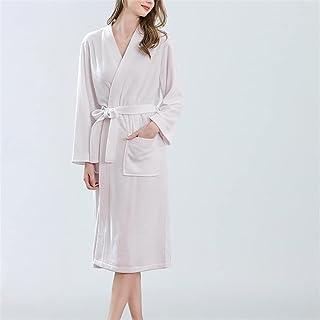 SKREOJF Robe D'automne Et D'hiver Pour Femme Pyjama Doux Serviette Peignoir Couleur Pure Pyjama De Plage De Source Chaude...