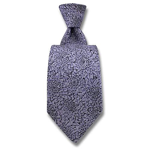 Robert Charles. Cravate. Chrysanthèmes, Soie. Violet, Fantaisie. Fabriqué en Italie.