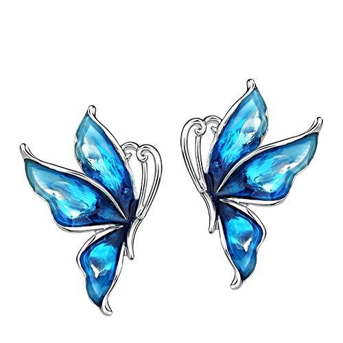 Pendientes de Diseño Mariposas con esmalte de Neoglory para mujeres alegres para regalos divertidos, originales y románticos