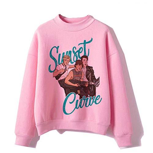 Julie und die Phantome lustige Sonnenuntergang-Sweatshirts weiblich/männlich Harajuku Hoodie rosa Frauen Kawaii Streetwear