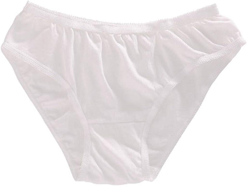 Gergeos 5PCS Disposable Panties Ladies Plus Size Mon-Woven Briefs Underwear for Travel, Hospital Stays, Postpartum