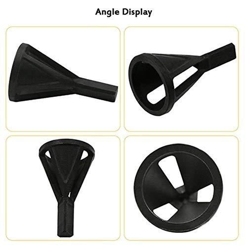 NOLOGO CJX 2019 Neueste Entgrat- Externer Fasen Werkzeug-Edelstahl Entfernen Burr Geräte for Metall Bohrwerkzeug (Color : Black Triangle)