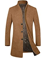 APTRO Men's Wool Trench Coat W...