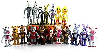PAPEO Set 18 FNAF Action Figures 4 inch Hot PVC Figure Toy Small Toys Mini Model Figurine Statue Christmas Halloween Birthday Gift Collectible Fazbear for Kids Adults