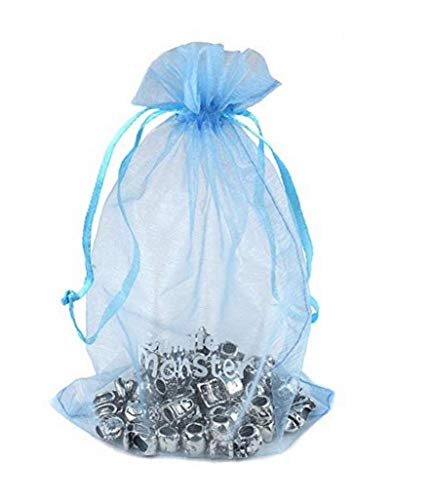 Bolsa de Hilo, 7 * 9cm de la joyería Material Organza con cordón Bolsas Daily Materia Regalo de Boda organizadores del Partido Bolsas