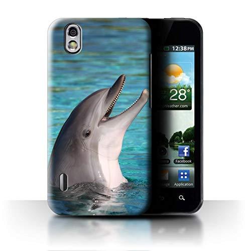 Stuff4 Hülle/Case für LG Optimus Black P970 / Nettes Lachen Muster/Delfine Meereslebens Kollektion