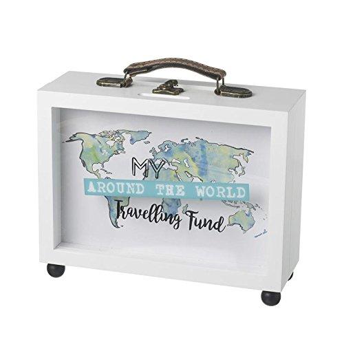 Mi diseño marco fondo caja dinero–blanco–Maleta