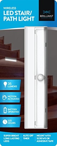 Brilliant Evolution Wireless LED Stair Light 1 Pack | LED Motion Sensor Light | Closet Light| Battery Operated Light | Stick On Lights | Motion Activated Indoor Step Lights | Motion Night Light