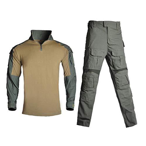 Herren Militärkleidung Tactical Uniform Camouflage Shirt + Paintball Cargo Hose G3 Green M