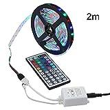 planuuik Impermeable Flexible Cambio de Color 3528 SMD RGB 32.8ft 10m con 44 Teclas Control Remoto IR