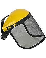 BUNRUN Casco de seguridad con visera de malla completa para tala de desbrozadora de protección forestal Casco de Segadora de malla