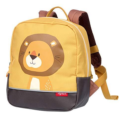 SIGIKID Mädchen und Jungen, Kinder-Rucksack mit Tiermotiv Löwe Forest, empfohlen für 2-5 Jährige, gelb, 25116