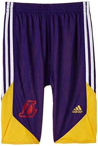 adidas Winter Hoops - Pantaloncini Double-Face da Bambino, Viola (NBA-Lal), Taglia 164