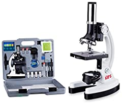 Beginner compound microscope provides high magnification for educational applications Monocular viewing head with LED and mirror illumination and built-in color filter wheel Forward-facing rotating turret provides 120x, 240x, 300x, 480x, 600x, and 12...