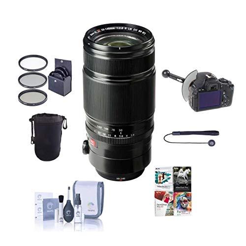 Fujifilm XF 50-140mm (76-213mm) F2.8 R LM OIS WR Lens - Bundle with 72mm Filter Kit, Soft Lens Case, Cleaning Kit, Capleash, DSLR Follow Focus & Rack Focus, PC Software Package