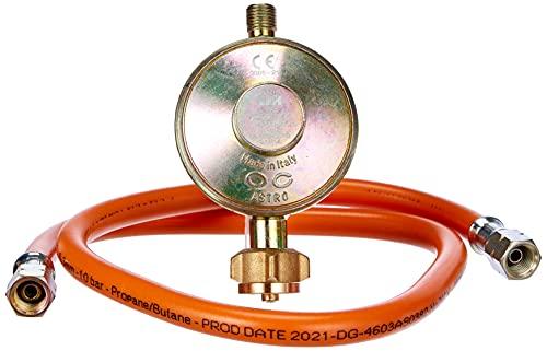 CFH 80cm Gasschlauch DG 452 52452 Set Druckregler 50 mbar mit 80 cm Schlauch 1/4 Zoll LH, 2 Stück