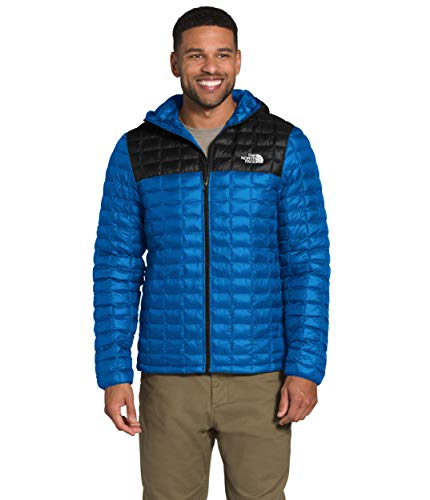 The North Face Men's ThermoBall Eco Hoodie, Bomber Blue/TNF Black, S