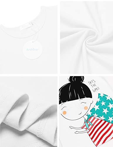Arshiner Kids Casual 3 Pack Short Sleeve Tops Tees Girls Tees 3pcs Shirts