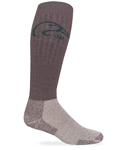 Ducks Unlimited Herren Tall Wool Heavy Boot Sock, hoch, Merino-Wolle, robuste Stiefelsocken, Natürlicher Mokka, X-Large