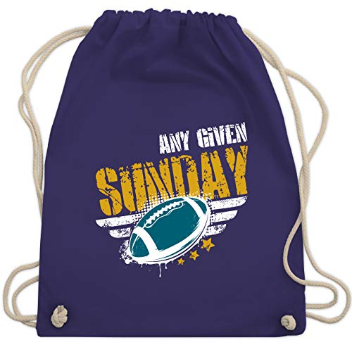 Shirtracer American Football - Any Given Sunday Football Jacksonville - Unisize - Lila - Footballspieler - WM110 - Turnbeutel und Stoffbeutel aus Baumwolle