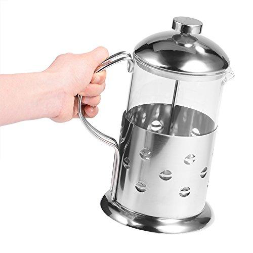 Cafetera de prensa francesa de 12/20/27oz, cafetera de vidrio de acero inoxidable, cafetera de té para acampar en la oficina de la mañana(27oz/800ML)