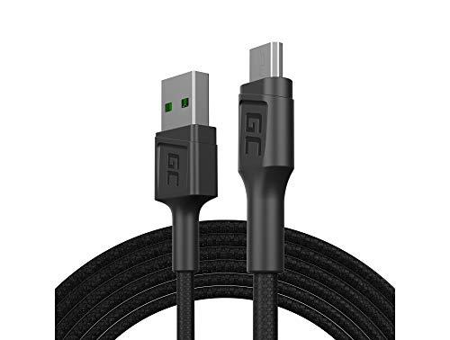 GC PowerStream   2m Micro USB Nylon Cavetto Cavo Cable di Ricarica High Speed Data&Sync con Ricarica Rapida Quick Charge 3.0 per Samsung, Xiaomi, Huawei, Nexus, LG, Motorola, Android Smartphones
