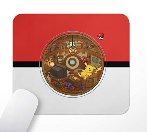 Gaming Office Mauspad,Anime Pokémon Pikachu,Gummi-Basis rutschfeste Mousepad,24×20cm,Computer PC,mit weicher Textiloberfläche und antistatischer Wirkung
